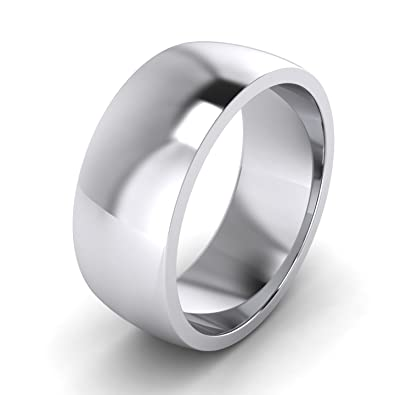 2/3/4/5/6/7/8/9mm Unisex Sterling Silver Super Heavy Court Shape Polished Wedding Ring TBnjoP