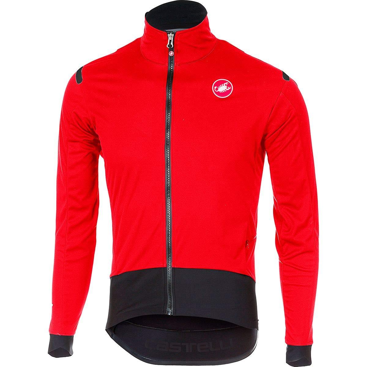 Castelli Alpha ROS Light Jacket - Men's Red/Black, S