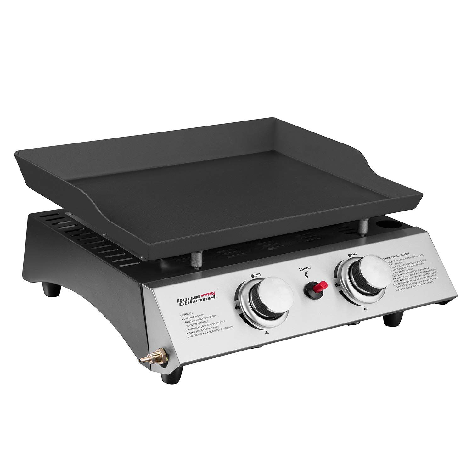 Royal Gourmet Portable 2 Burner Propane Gas Grill Griddle Pd1201 by Royal Gourmet