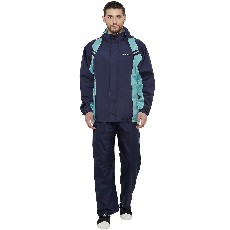 ZEEL Unisex Seam Sealed Raincoat with Long Jacket and Hood