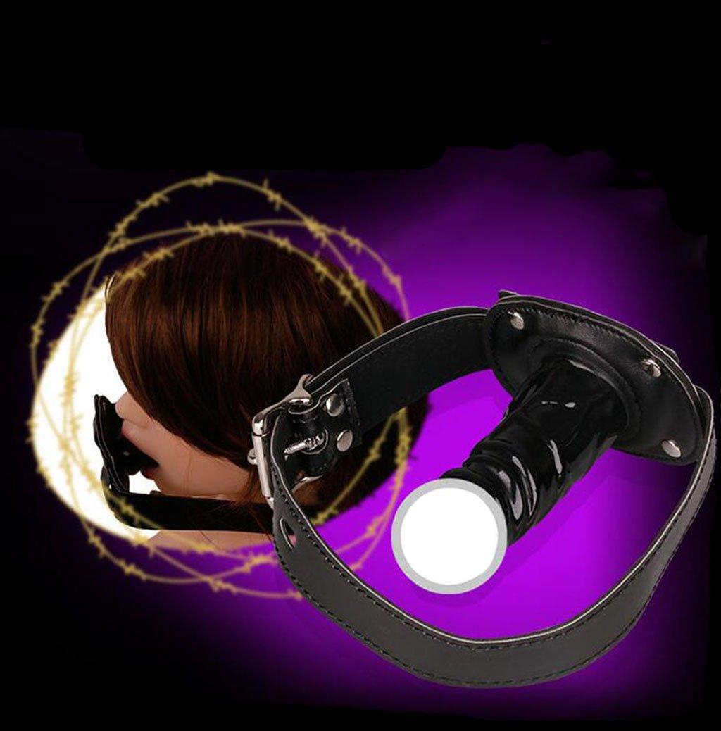 Adult Supplies, SM Simulación Pene Plug Trainer femenina Formación Slave Formación femenina Deep Throat Obligato Risch Zhan gkou Tortura equipo port Ball Diversión Suministros Sex Supplies, piel, b, 10 cm 75751d