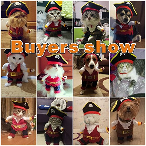 Idepet New Funny Pet Clothes Pirate Dog Cat Costume Suit Corsair Dressing up Party Apparel Clothing  - http://coolthings.us