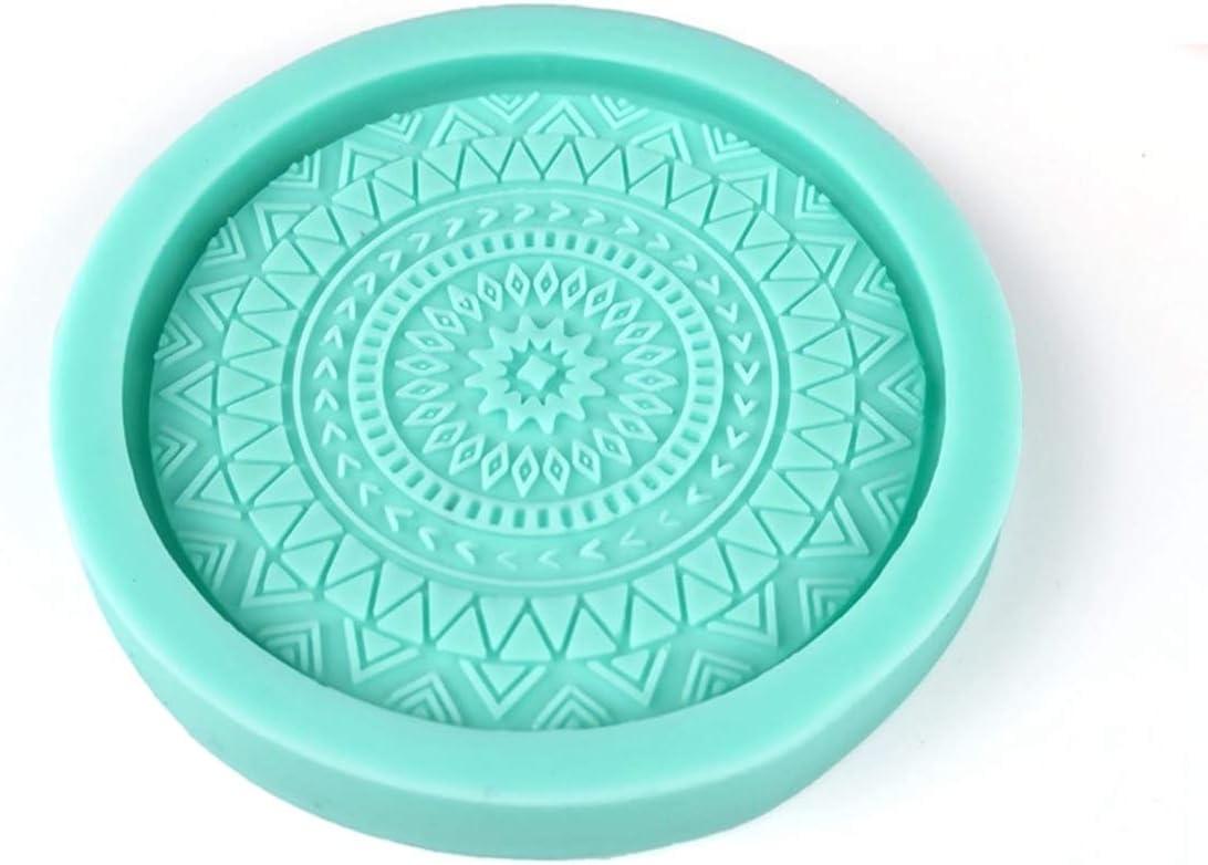 WUSIO Home Decor Handmade Concrete Gypsum Silicone Round Clay Tools Resin Casting Mold Coaster Mould Soap Dish Tray