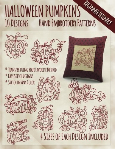 Halloween Pumpkins Hand Embroidery Patterns -