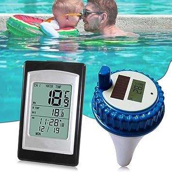 Thermometre de piscine sans fil solaire interieure et exterieure Haute qualiYT