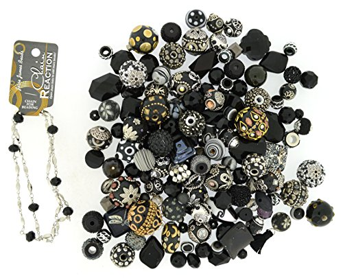 Jesse James Beads - Jesse James Beads Premium Black Mix-Plus Free 18 inch Beaded Chain