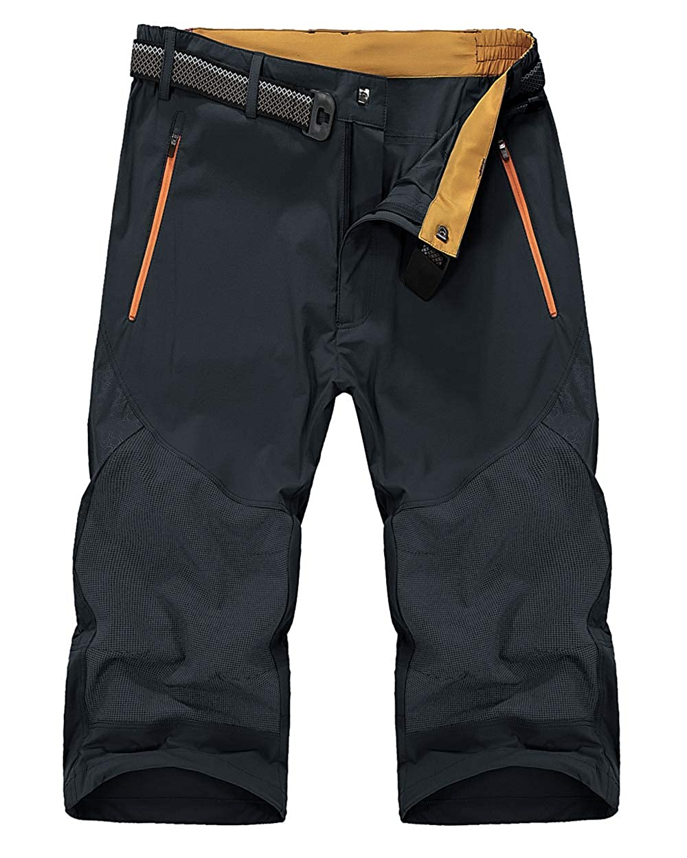 KEFITEVD Pantalones de Hombre Pantalones de Senderismo 3//4 Pantalones Cortos de Trekking el/ásticos de Secado r/ápido Pantalones de Verano