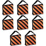 Neewer® Set of 8 Black/Orange Sandbag Photography Studio Video Stage Film Sandbag Saddlebag for Light Stands Boom Arms Tripods
