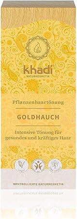 Khadi - Tinte Herbal, Rubio Toque Dorado, 100 g