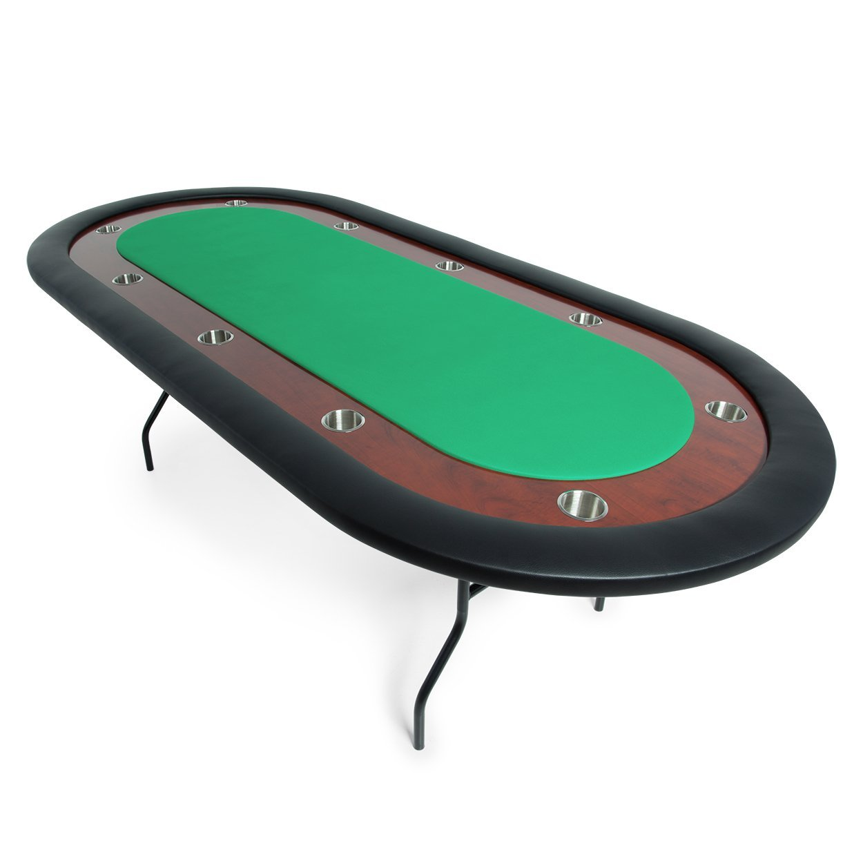 BBO Poker Ultimate Folding Poker Table for 10 Players with Green Felt Playing Surface, 92 x 44-Inch Oval by BBO Poker