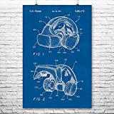 Forte VFX1 Virtual Reality VR Headgear Poster Print, Gamer Gift, VR Gaming System, Augmented Reality, PC Gaming Blueprint (24' x 36')
