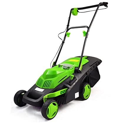 Amazon.com : SereneLife Cordless Electric Lawn Mower - Battery ...