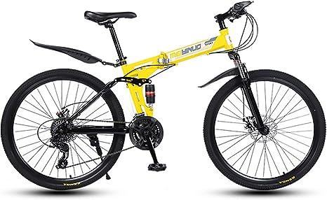 Bicicleta Plegable, Marco De Acero De Alto Carbono Plegado Bike, Adultos Montaña Plegable, Sillin Confort, 21 * 24 * 27 velocidades 26 Pulgadas Unisex Bicicleta Plegable Urbana,: Amazon.es: Deportes y aire libre