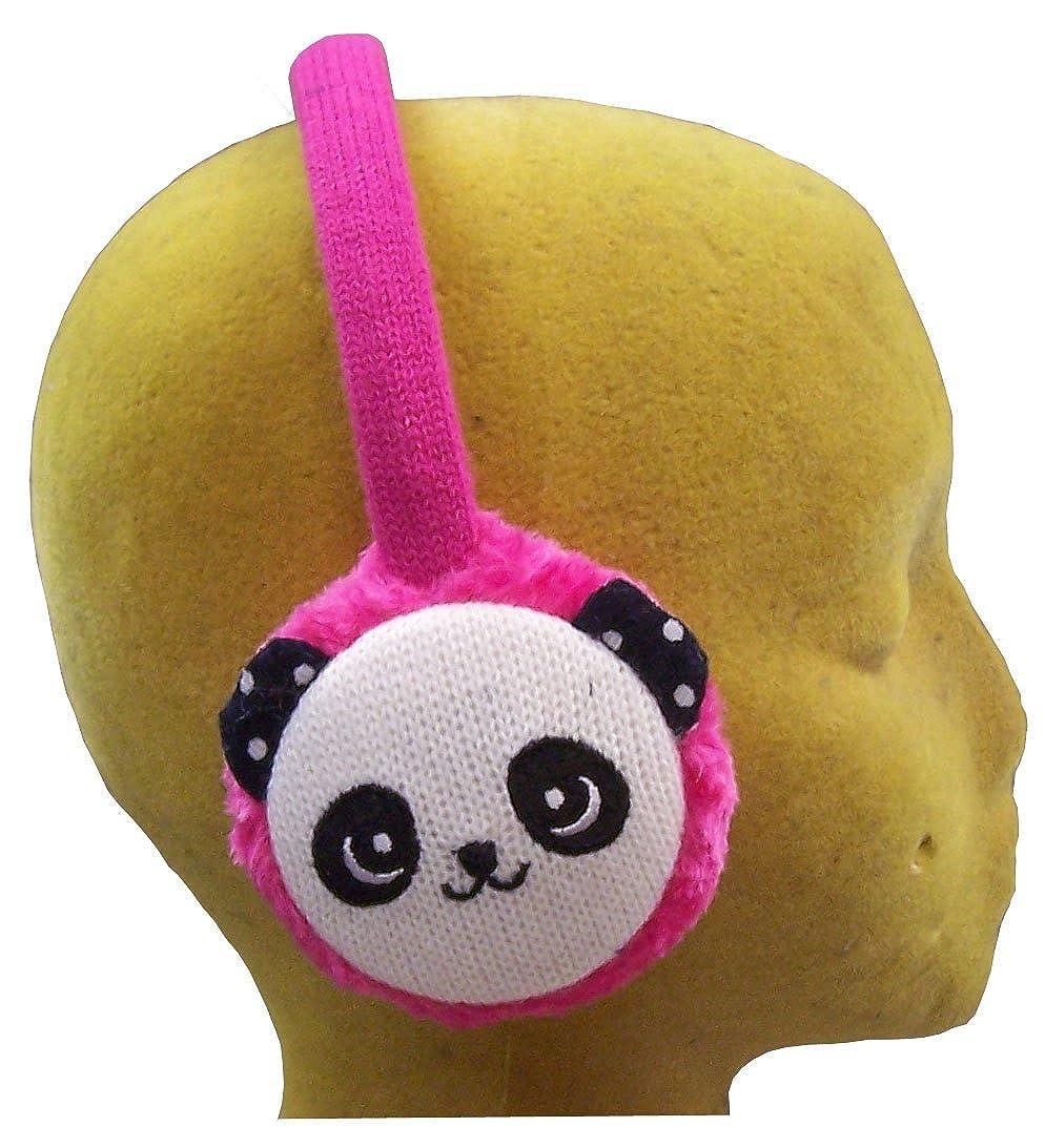 N'Ice Caps Girls Cute Panda Face Faux Fur Adjustable Ear Muff 653