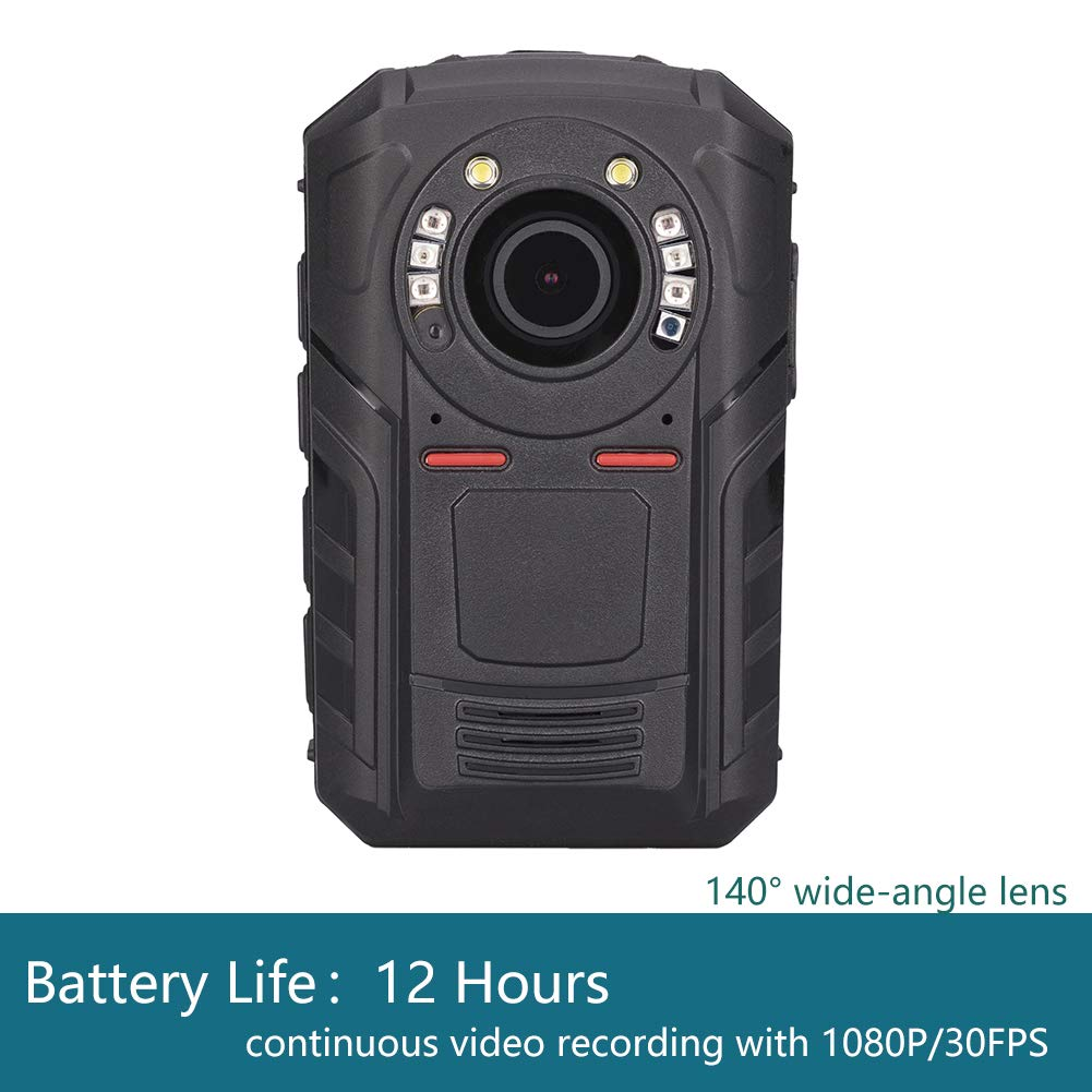 Mojo Police Body Camera with 1440P, H.265,140° Wide Angle Lens,12+ Hour Battery Life at 1080p,Low Light Recording at 0.1 Lux, Pre-Buffering up to 30 Sec,Compact and Lightweight Body Worn Camera-32GB by GoflyCam (Image #2)