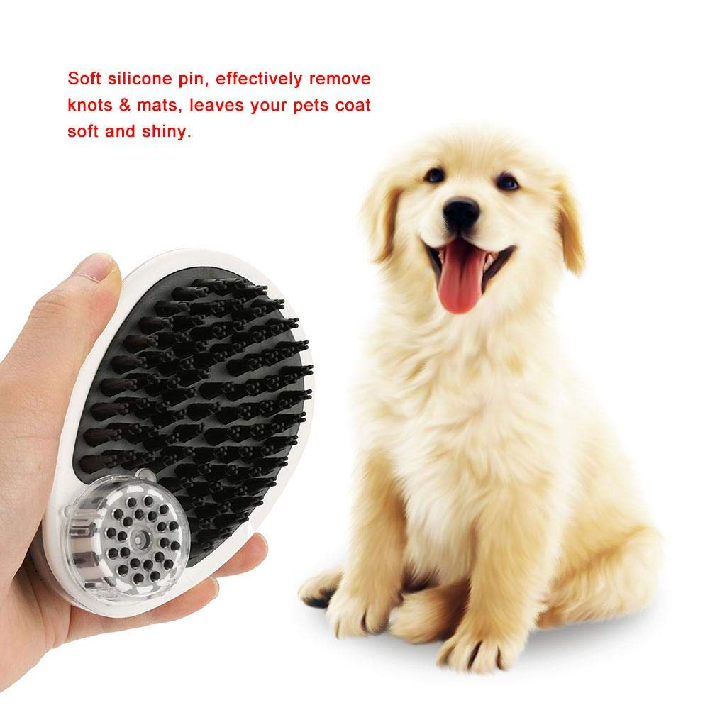 Smandy Cepillo de ba/ño para Mascotas Silicona Suave Champ/ú para Mascotas Cepillo de Masaje Cepillo de Limpieza Peine para Mascotas Herramienta de ba/ño con champ/ú para Perros y Gatos
