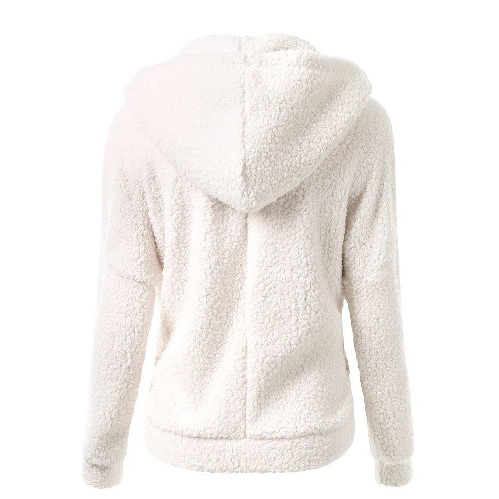 Panpany Womens Winter Teddy Bear Coat Ladies Fuzzy Fleece Lapel Long Sleeve Outwear Jacket Cardigan