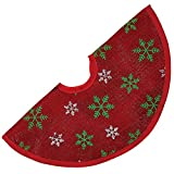 Christmas Tree Skirt Miniature 12D inches Red Green White H9557-RE