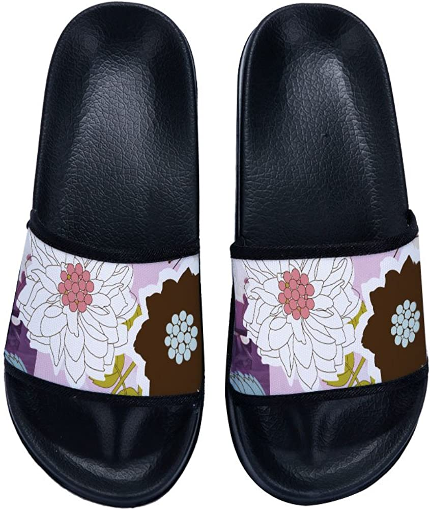 Cute Flowers Slippers Quick-Drying Non-Slip Slippers for Womens