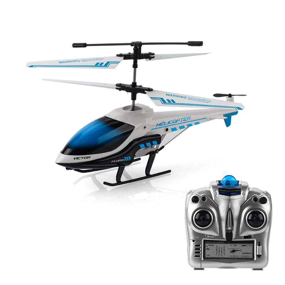 RC Airplane, 3.5 Channel Durable Aircraft Toy remote Controlled with Gyro and LED Light