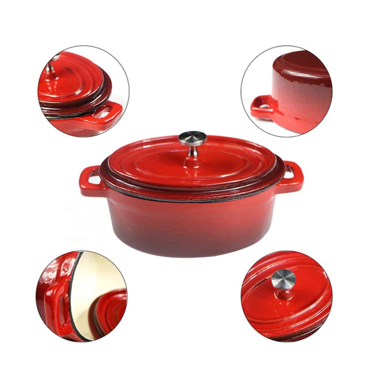 Non-stick Enameled Cast Iron Dutch Oven Pan Dutch Ovens Enameled Cast Iron Covered Casserole Oval Mini Pot Panela Cooking Pot Cookware Ollas De Cocina