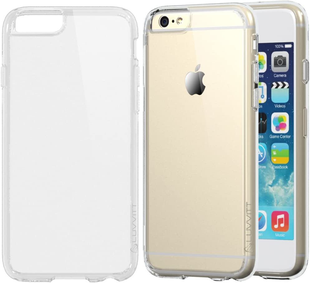 iPhone 6s Plus Case, LUVVITT [Clearview] Hybrid Scratch Resistant Back Cover with Shock Absorbing Bumper for Apple iPhone 6/6s Plus - Crystal Clear
