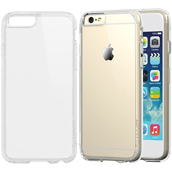 8211df61e0a55 iPhone 6s Case Clear, LUVVITT [Clearview] Hybrid Scratch Resistant Back  Cover with Shock Absorbing Bumper for Apple iPhone 6/6s (4.7) - Crystal  Clear