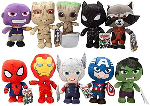 PACK 4 PELUCHES HULK, IRON MAN, THOR, CAPITAN AMERICA ...