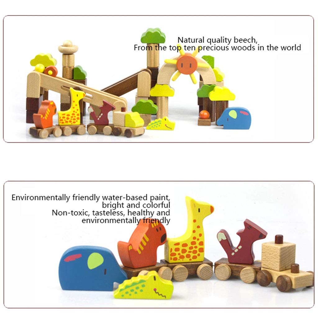 HXGL-Toys Wooden Toys Animal Parks Building Blocks Puzzles Early Education Gifts Pieces (Color : Multi-Colored) by HXGL-Toys (Image #7)