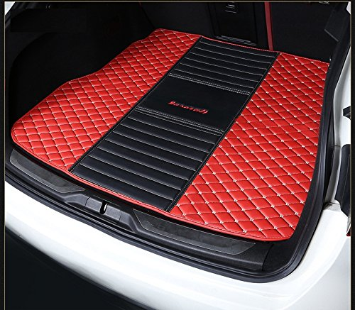 (Eppar New Protective Rear Trunk Mats 1PC for Maserati Levante 2016-2018 (Red+Black))