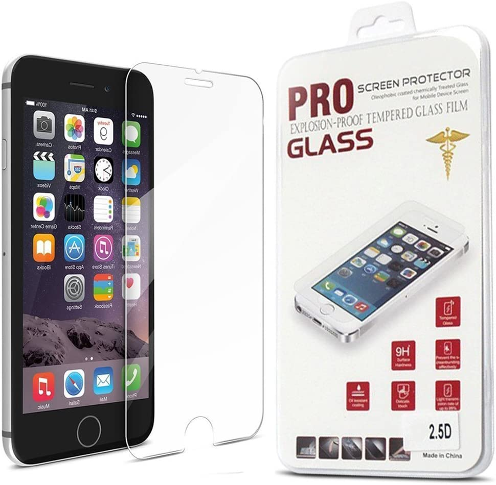 Amazon.com: Premium Tempered Pro Glass Screen Protector Super Strong for iPhone  6 6S - Maximize Your Resale Value 2.5D 9H Oleophobic Coating - Anti  Fingerprint and Scratch - Perfect Clarity and Touch