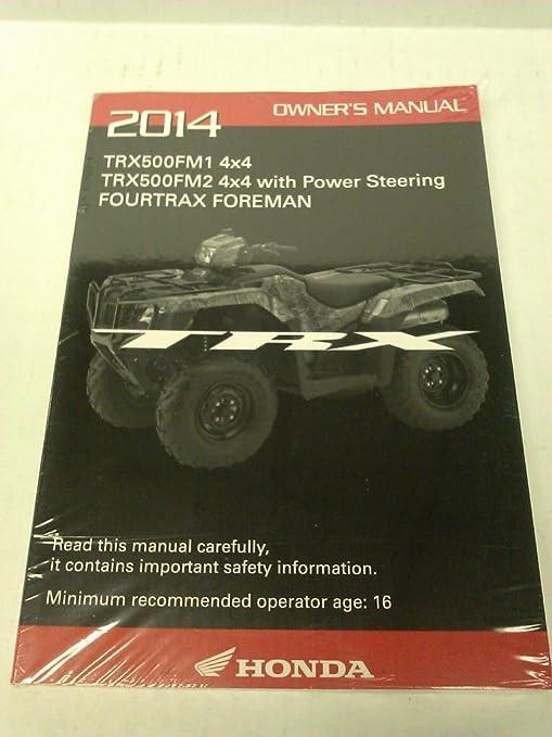 Honda Owners Manual >> Amazon Com Genuine Honda Atv Owners Manual 2014 Trx500