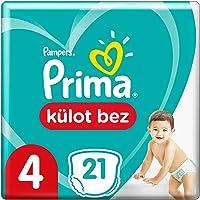 Prima Külot Bebek Bezi, 4 Beden, 21 Adet, Maxi Tekli Paket