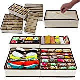 Paffy Set Of 4 Foldable Drawer Dividers, Storage Boxes For Clothing, Shoes, Underwear, Bra, Socks