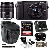 Panasonic DMC-GX85WK LUMIX 4K Mirrorless Camera with 12-32mm & 45-150mm Lenses Essentials Bundle