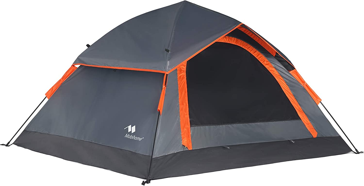 Mobihome Camping Backpacking Tent 2 3 Person Easy Setup, Instant Quick Up Portable Dome Tents for 3-Seasons Hiking Mountain Outdoor, with Water-Resistant Rainfly and Ventilated Top Mesh – 7 x 6.3
