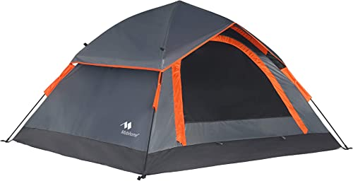 Mobihome 3 Person Tents for Camping, Instant Backpacking Quick Tent Easy Set Up, Portable 2 Person Dome Tent for Hiking Mountain Outdoor, with Rainfly and Ventilated Top Mesh – 7 x 6.3