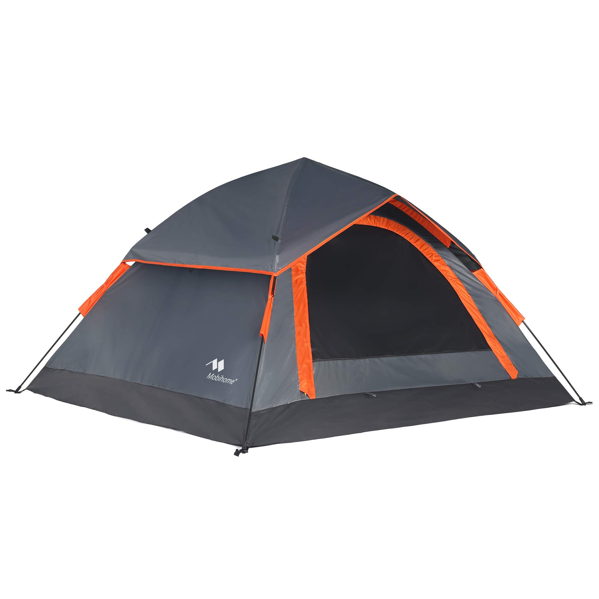 Mobihome Camping Backpacking Tent 2 3 Person Easy Setup, Instant Quick Up Portable Dome Tents for 3-Seasons Hiking & Mountain Outdoor, with Water-Resistant Rainfly and Ventilated Top Mesh - 7' x 6.3' by Mobihome