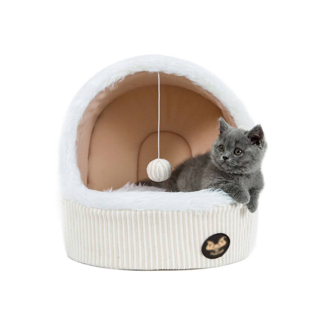 303535cm Wei Zhe- Tent Bed for Cats-Pet Cave Four Seasons Closed Nest Cat House Cat Nest pet Bed wash (Size   30  35  35cm)