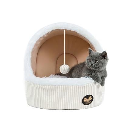 ZH Cama para Mascotas Cama para Mascotas Cama Cerrada Cama para Dormir para Mascotas pequeña Cama