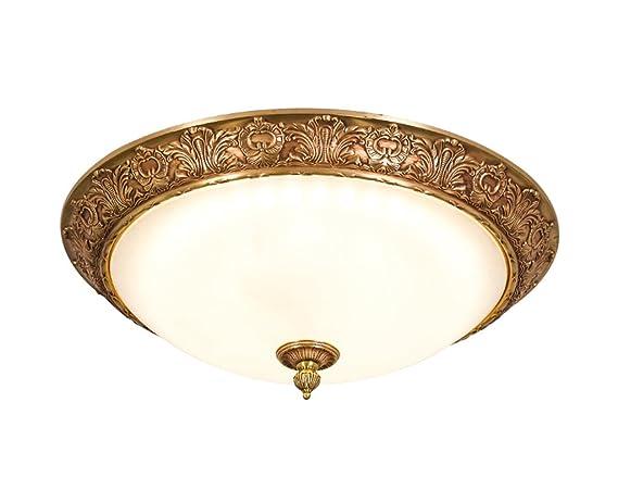 Hjhy® illuminazione a soffitto in rame pieno stile europeo lampada