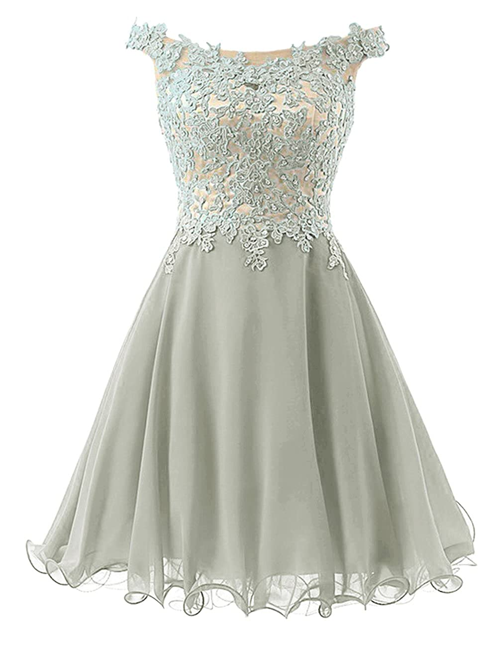 Homecoming Dresses Short Prom Dress Chiffon Cocktail Party Gowns for JuniorAppliques Beaded