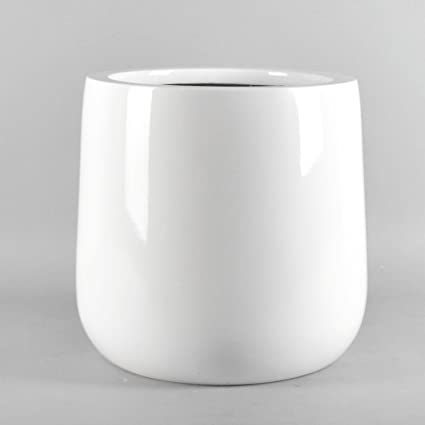 Amazon Vase Source Shiny White Round Planter Round Bottom