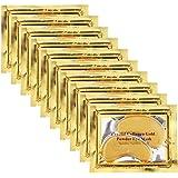 Adofect 30 Pairs Gold Collagen Eye Mask Powder Crystal Gel Eye Masks Under Eye Patches Great For Moisturizing, Wrinkle, Fine