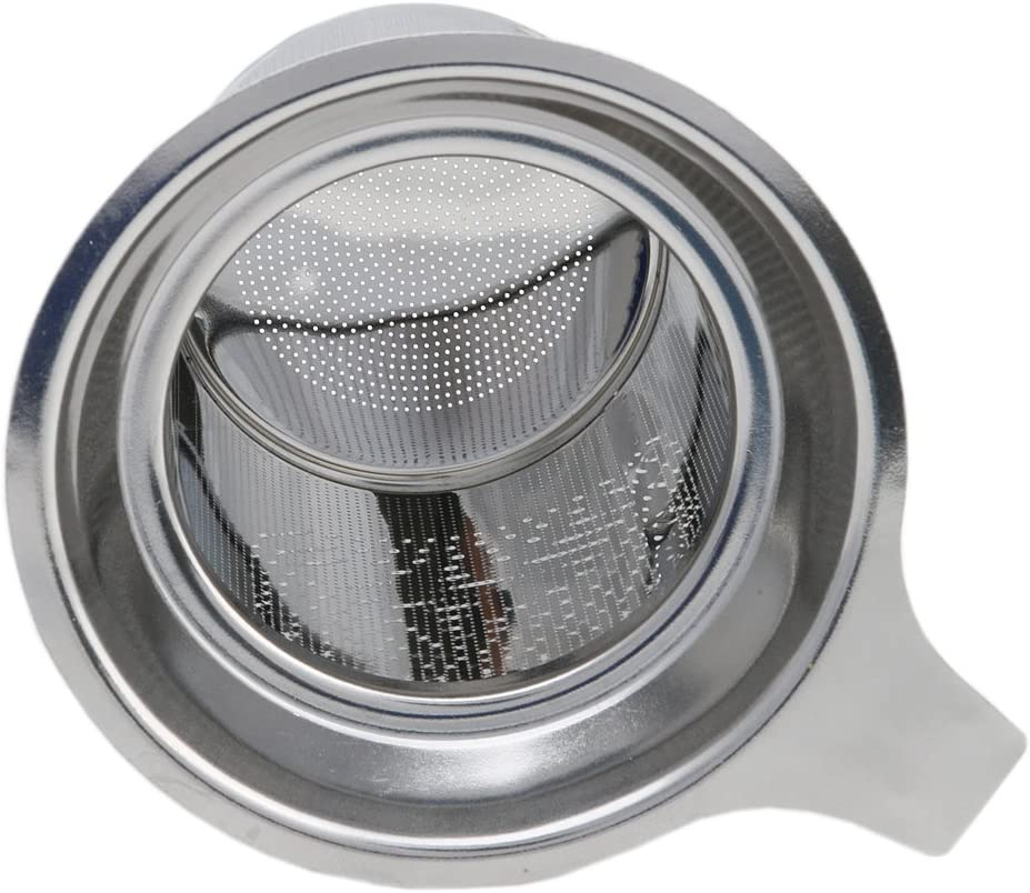 Kangnice Stainless Steel Mesh Tea Silicone m/étal Cup Strainer Loose Tea Leaf Filter Sieve by