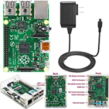 Raspberry Pi 2 Model B (1GB) Basic Starter Kit Includes Raspberry Pi 2 Model B-- Clear Case--Power Supply