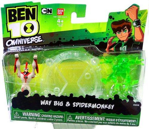 Ben 10 Ultimate Alien Mini Action Figure - Way Big/Spider Monkey