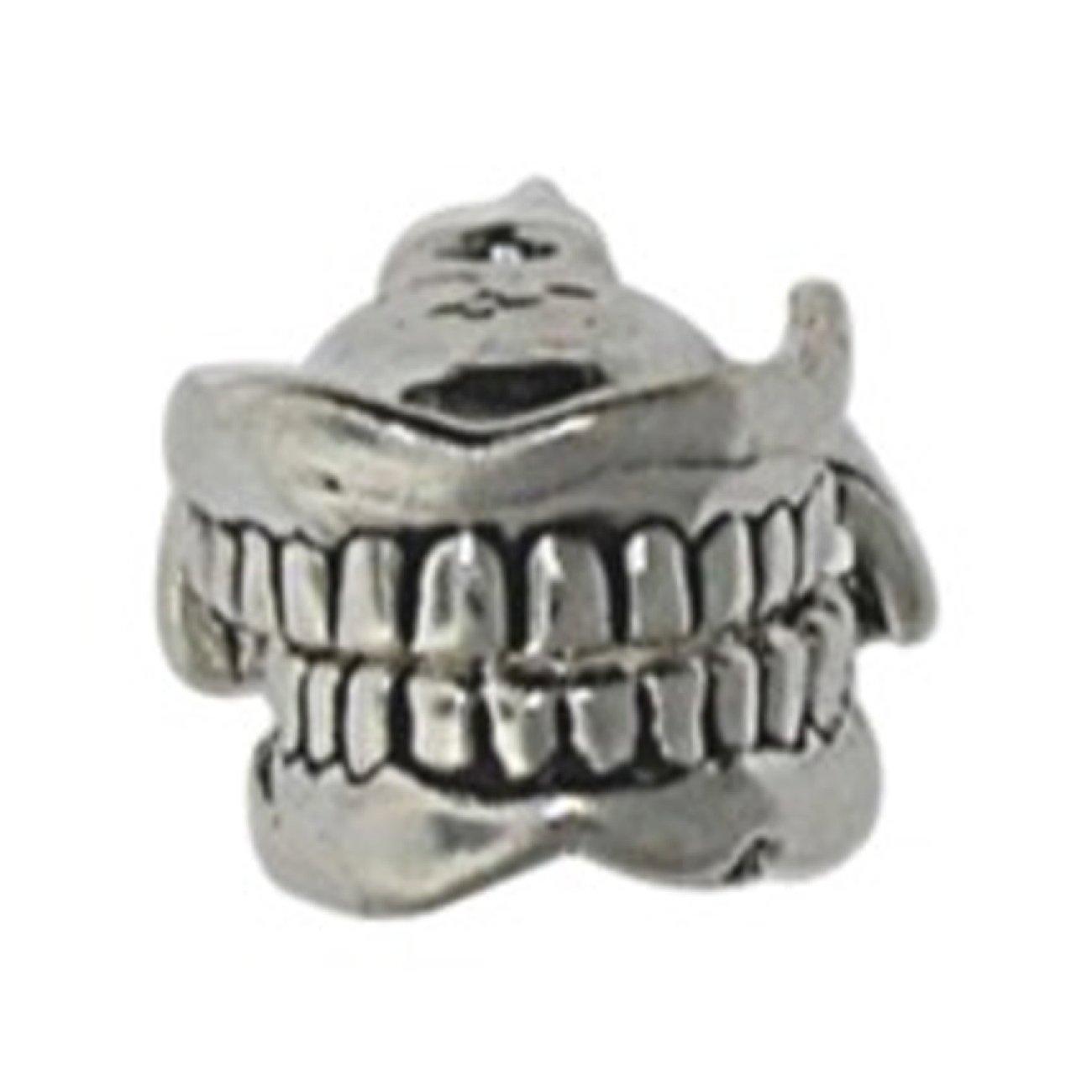 Sterling Silver 3D Moveable Dentist Model Denture Set Of Teeth Medical Charm Bead For Bead Bracelet