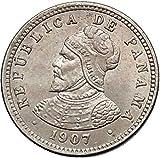 1907 PANAMA Central American Country Antique 1/2 Centesimo Coin BALBOA i55251