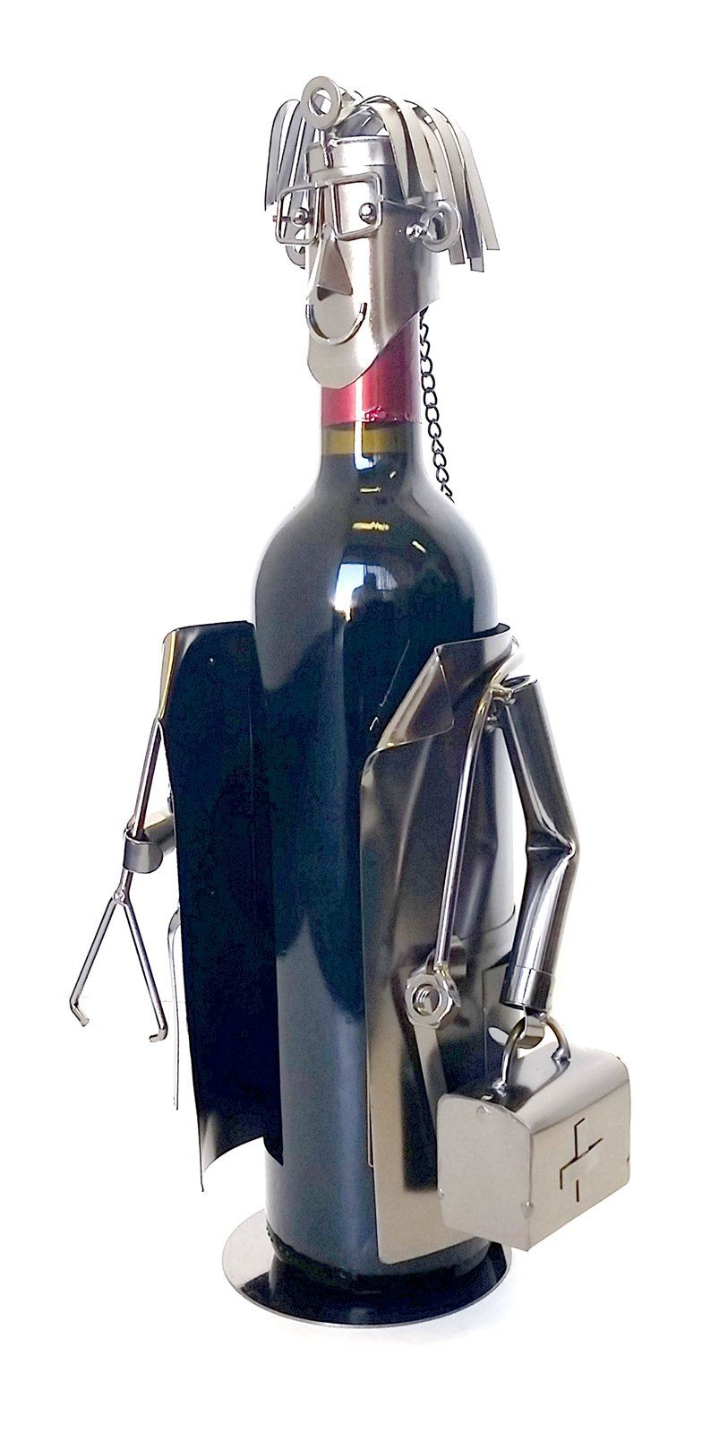 Bellaa Hand Made Designer Wine Holder a Gift for a Doctor, Collection LTD Edition